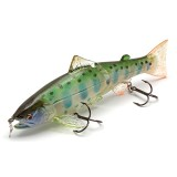 Воблер Lucky Craft Real Bait Premium Amago 130F_0713 Ghost Energy Baby May Salmon 615