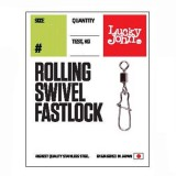Вертлюги c застежкой Lucky John Pro Series Rolling Swivel Fastlock 008 тест 14кг. (10шт)