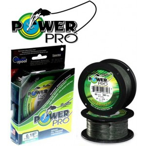Плетеный шнур POWER PRO 135m (Moss Green) Диаметр - 0,43 мм. Нагрузка - 48 кг.