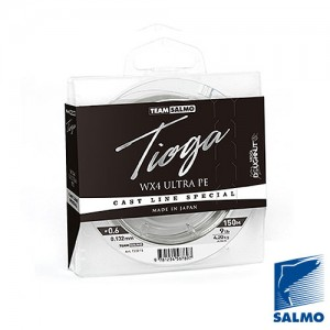 Плетеный шнур Team Salmo Tioga Silver Grey 150 м/0,17 мм